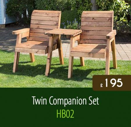 Twin Companion Set HB02. High Quality Outdoor Garden Furniture Delivered Nationwide