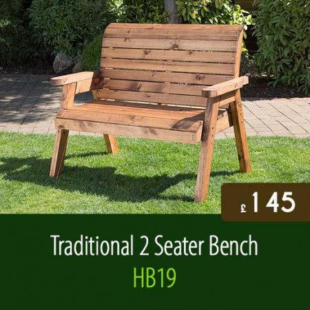 Traditional 2 seater bench hb19 staffordshire fuel supplies for Traditional garden furniture