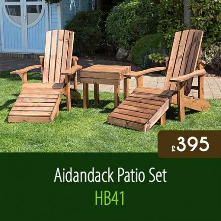 Aidandack Patio Set HB41. High Quality Outdoor Garden Furniture Delivered Nationwide