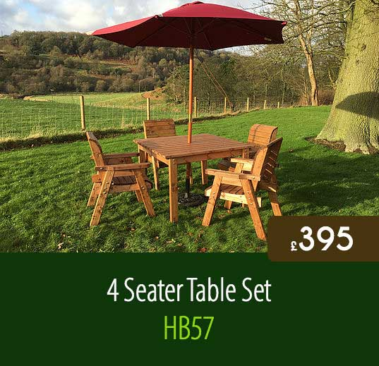4 Seater Table Set HB57. High Quality Outdoor Garden Furniture Delivered Nationwide