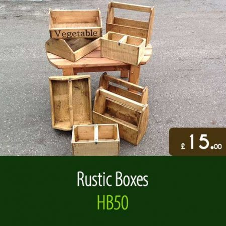 Traditional Rustic Boxes HB50. Traditional Outdoor Garden Furniture Accessories Staffordshire