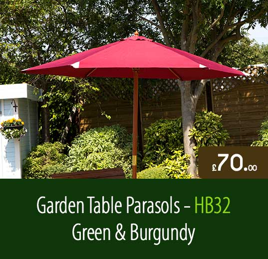 . Garden Table Parasols HB32 33   Staffordshire Fuel Supplies