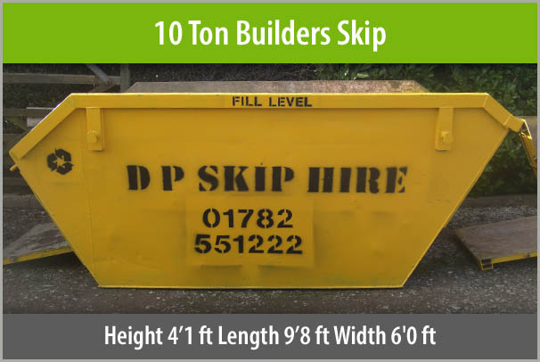 10 Ton Builders Skip For Hire Staffordshire