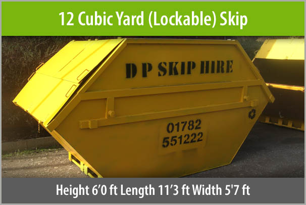 Large Lockable Skip For Hire Staffordshire