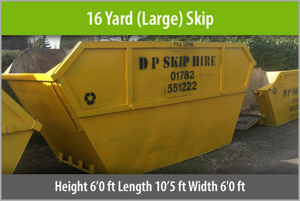 16 Yard Skip For Hire Staffordshire
