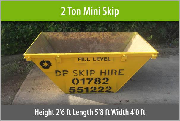 2 Ton Mini Skip Staffordshire