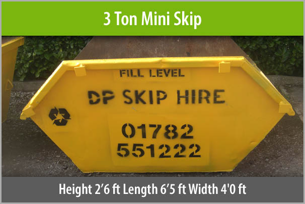 3 Ton Mini Skip For Hire Staffordshire