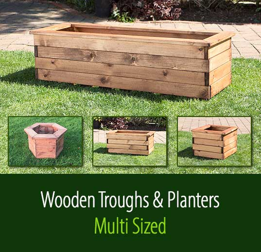 Wooden Troughs And Planters Staffordshire Fuel Supplies